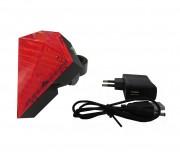 Lanterna Traseira Recarregável com Ciclovia Virtual Go Easy