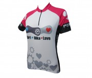 Camisa Feminina Penks Bike Love Rosa Manga Curta