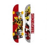 Skate Infantil Transformers Branco e Vermelho